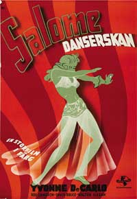 Salome, Where She Danced - 27 x 40 Movie Poster - Swedish Style A