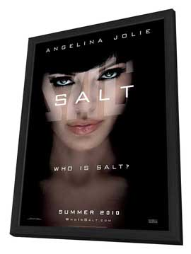 Salt - 11 x 17 Movie Poster - Style B - in Deluxe Wood Frame