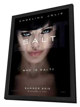 Salt - 27 x 40 Movie Poster - Style A - in Deluxe Wood Frame