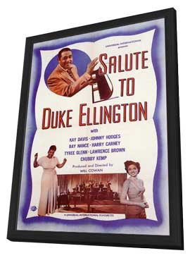 Salute to Duke Ellington - 11 x 17 Movie Poster - Style A - in Deluxe Wood Frame