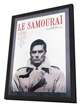 Samourai, Le - 11 x 17 Poster - Foreign - Style B - in Deluxe Wood Frame