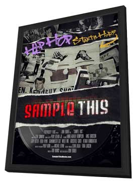 Sample This - 11 x 17 Movie Poster - Style A - in Deluxe Wood Frame