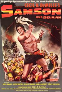 Samson and Delilah - 27 x 40 Movie Poster - German Style A