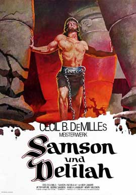 Samson and Delilah - 11 x 17 Movie Poster - German Style A