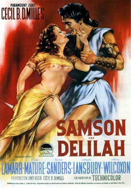 Samson and Delilah - 11 x 17 Movie Poster - German Style B