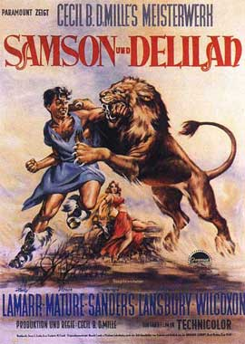 Samson and Delilah - 11 x 17 Movie Poster - German Style C