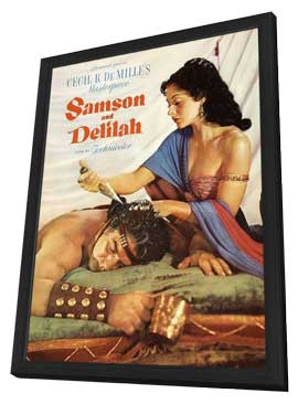Samson and Delilah - 11 x 17 Movie Poster - Style C - in Deluxe Wood Frame