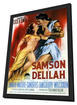 Samson and Delilah - 11 x 17 Movie Poster - German Style B - in Deluxe Wood Frame