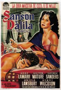 Samson and Delilah - 43 x 62 Movie Poster - Spanish Style A