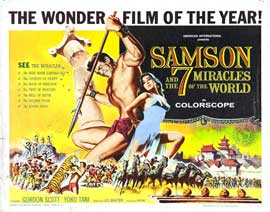 Samson and the 7 Miracles of the World - 22 x 28 Movie Poster - Half Sheet Style B