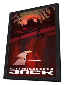 Samurai Jack - 14 x 36 Movie Poster - Insert Style A - in Deluxe Wood Frame