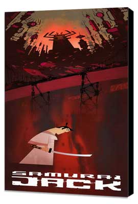 Samurai Jack - 14 x 36 Movie Poster - Insert Style A - Museum Wrapped Canvas