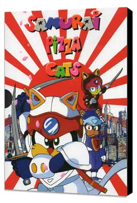 Samurai Pizza Cats (TV) - 11 x 17 TV Poster - Style A - Museum Wrapped Canvas