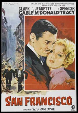 San Francisco - 11 x 17 Movie Poster - Spanish Style D