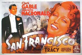 San Francisco - 27 x 40 Movie Poster - French Style A