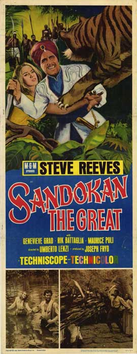 Sandokan The Great - 14 x 36 Movie Poster - Insert Style A