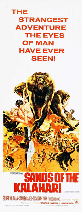 Sands of the Kalahari - 14 x 36 Movie Poster - Insert Style A