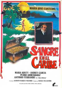 Sangre en el Caribe - 11 x 17 Movie Poster - Spanish Style A