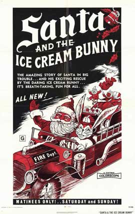 Santa and the Ice Cream Bunny - 11 x 17 Movie Poster - Style A