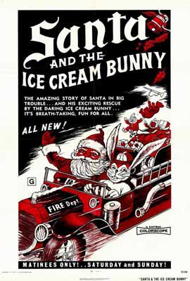 Santa and the Ice Cream Bunny - 27 x 40 Movie Poster - Style A