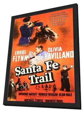 Santa Fe Trail - 11 x 17 Movie Poster - Style A - in Deluxe Wood Frame