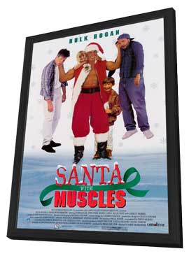 Santa with Muscles - 11 x 17 Movie Poster - Style A - in Deluxe Wood Frame