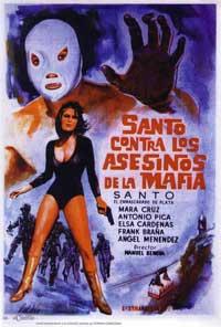 Santo contra los asesinos de la mafia - 11 x 17 Movie Poster - Spanish Style A