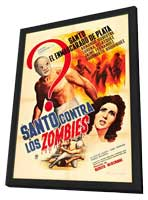 Santo contra los zombies - 27 x 40 Movie Poster - Spanish Style A - in Deluxe Wood Frame