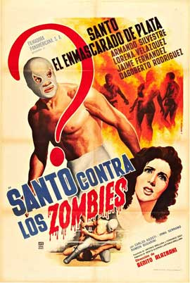 Santo contra los zombies - 27 x 40 Movie Poster - Spanish Style A