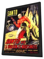 Santo Versus the Martian Invasion - 11 x 17 Movie Poster - Spanish Style A - in Deluxe Wood Frame