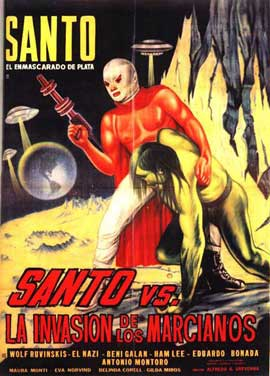 Santo Versus the Martian Invasion - 11 x 17 Movie Poster - Spanish Style A