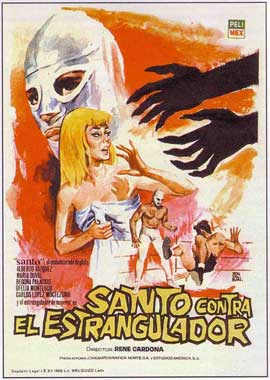 Santo Vs Eel Estrangulador - 11 x 17 Movie Poster - Spanish Style A