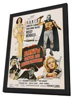 Santo vs. the Kidnappers - 11 x 17 Movie Poster - Spanish Style A - in Deluxe Wood Frame