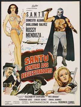 Santo vs. the Kidnappers - 27 x 40 Movie Poster - Spanish Style A