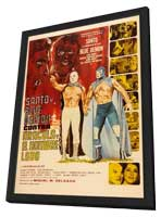 Santo y Blue Demon vs Dracula y el Hombre Lobo - 11 x 17 Movie Poster - Mexican Style A - in Deluxe Wood Frame