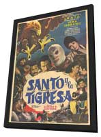 Santo y el aguila real - 11 x 17 Movie Poster - Spanish Style A - in Deluxe Wood Frame