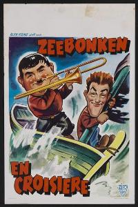 Saps at Sea - 27 x 40 Movie Poster - Belgian Style A