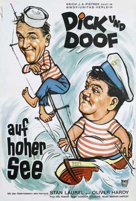Saps at Sea - 27 x 40 Movie Poster - German Style A
