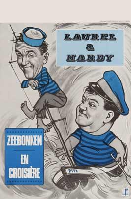 Saps at Sea - 11 x 17 Movie Poster - Belgian Style C