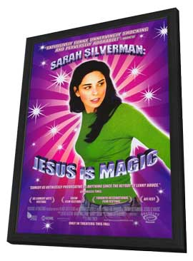 Sarah Silverman: Jesus is Magic - 27 x 40 Movie Poster - Style A - in Deluxe Wood Frame