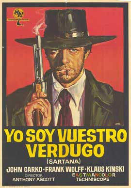 Sartana the Gravedigger - 27 x 40 Movie Poster - Italian Style A
