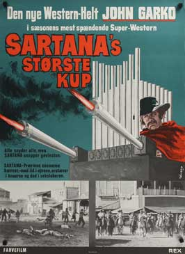 Sartana the Gravedigger - 27 x 40 Movie Poster - Danish Style A