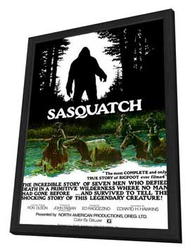 Sasquatch, the Legend of Bigfoot - 11 x 17 Movie Poster - Style A - in Deluxe Wood Frame