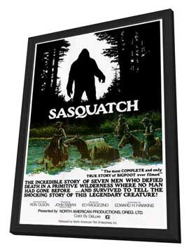Sasquatch, the Legend of Bigfoot - 27 x 40 Movie Poster - Style A - in Deluxe Wood Frame