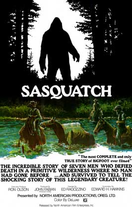 Sasquatch, the Legend of Bigfoot - 11 x 17 Movie Poster - Style A - Museum Wrapped Canvas