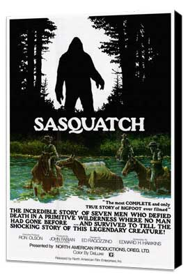 Sasquatch, the Legend of Bigfoot - 27 x 40 Movie Poster - Style A - Museum Wrapped Canvas