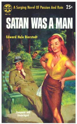 Satan was a Man - 11 x 17 Retro Book Cover Poster