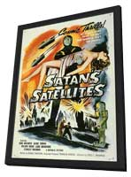 Satan's Satellites - 11 x 17 Movie Poster - Style A - in Deluxe Wood Frame