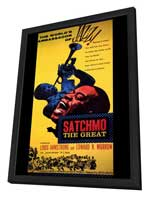 Satchmo the Great - 27 x 40 Movie Poster - Style A - in Deluxe Wood Frame