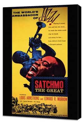 Satchmo the Great - 27 x 40 Movie Poster - Style A - Museum Wrapped Canvas